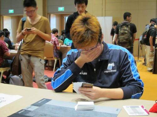 本次GP的第二名,新加坡本土高手Chapman面对镜头略显羞涩。